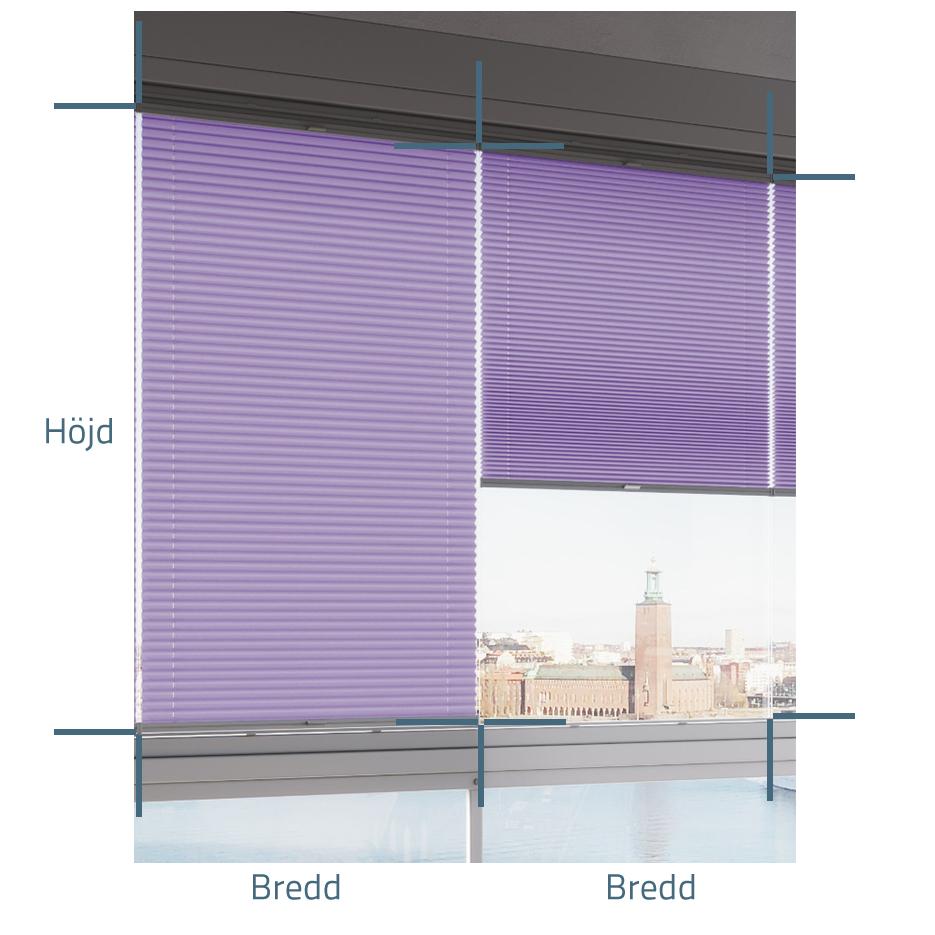 Plisségardin Flex® till inglasad balkong